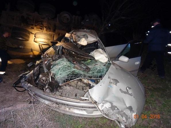 В Георгиевском районе погиб водитель легкового авто в ДТП с «КАМАЗом»