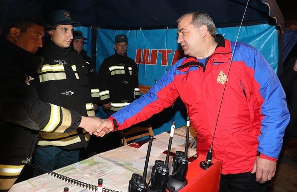 Глава МЧС России прибыл в Ставропольский край