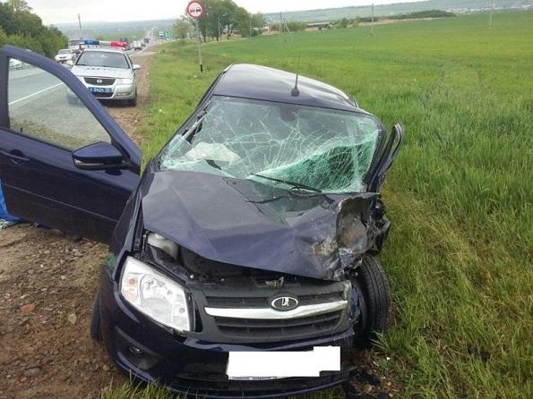 В Шпаковском районе в ДТП пострадал 19-летний молодой человек