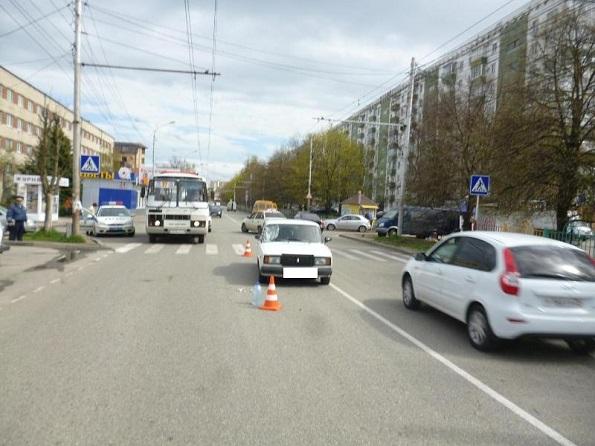 В Северо-западном районе Ставрополя в ДТП пострадал пешеход