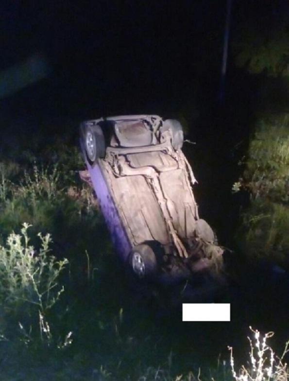 В Александровском районе перевернулся автомобиль «ВАЗ-21083»