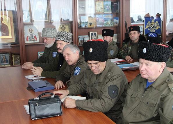 В Ставрополе состоялся первый в 2018 году совет атаманов окружного казачьего общества Терского войска
