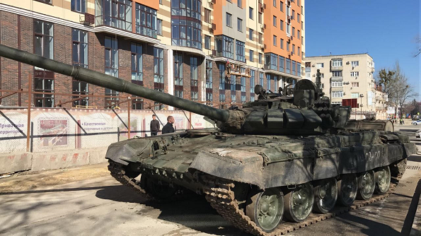 Военная техника в Ставрополе готовится к параду Победы