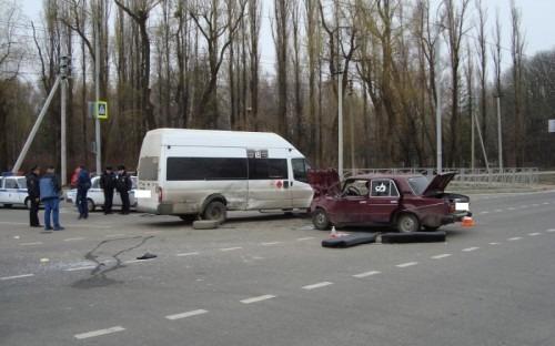 В Ставрополе произошло ДТП с маршруткой. Шестеро пострадавших