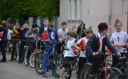 Школьники Минеральных Вод приняли участие в велопробеге в честь 9 мая