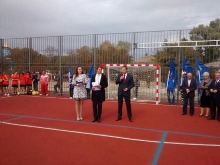 Новую спортивную площадку открыли в Петровском районе