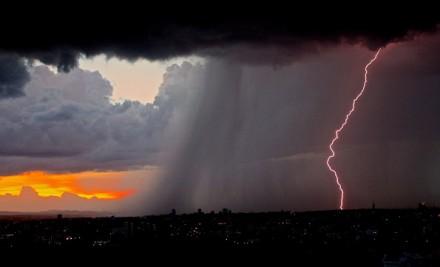 Сильный ливень и град на Ставрополье