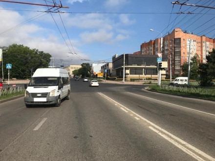 Маршрутка, которая сбила пешехода в Ставрополе