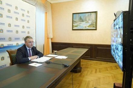 Губернатор Владимиров на видеоконференции